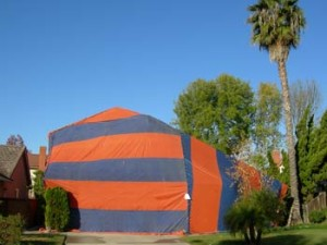 image of house being tented for termites