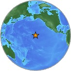 image of globe with Hawaii starred
