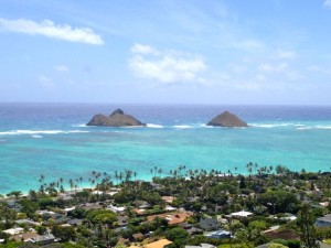 photo of the Lanikai coast and Mokulua Islands