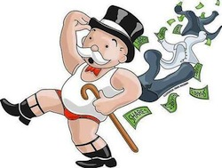 illustration of Monopoly guy losing his clothes and money