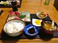 photo of a Japanese sashimi meal