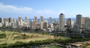 View of Waikiki over the Ala Wai Canal