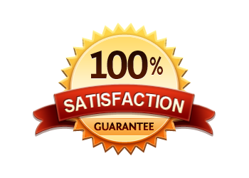 Satisfaction Guaranteed 100% - Burst Badge Orange